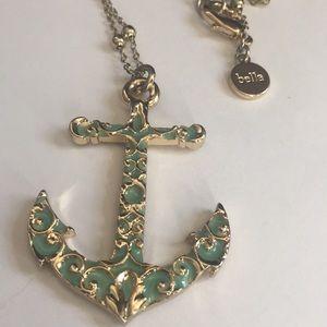 Bella jack anchor jewel 💎 pendant necklace